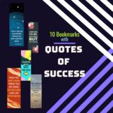 Success Quotes Inspirational Bookmarks