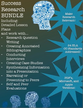 Success Research BUNDLE! Research Questions, Annotated Bibliographies and more!