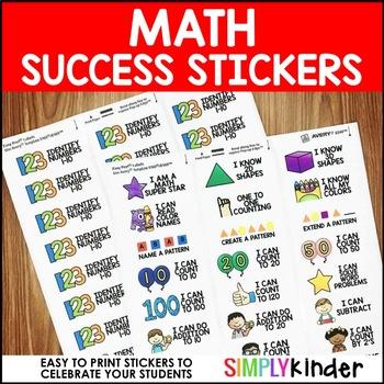 Success Stickers - Math