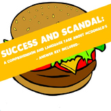 Success and Scandal - A Comprehension and Language Task Ab