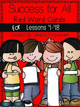 Success for All Reading Roots RED Word Cards Lesson 4-48