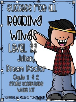Success for All Reading Wings 2.2 Julian Dream Doctor Cycle 1 &2 Word Kit