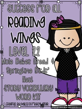 Success for All Reading Wings 2.2 Mole Bakes Bread & Springtime Birds' Nests Kit