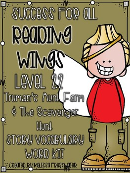 Success for All Reading Wings 2.2 Truman's Aunt Farm & The Scavenger Hunt Kit