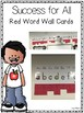 Success for All (SFA) KinderCorner Red Word Wall Cards