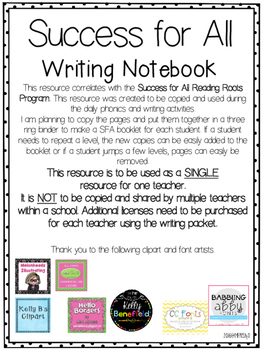 Success for All (SFA) Reading Roots Daily Writing LEVEL THREE 26-37