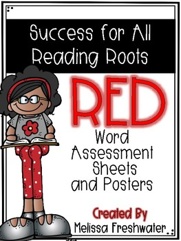 Success for All (SFA) Reading Roots Red Word Assessment Posters and Forms