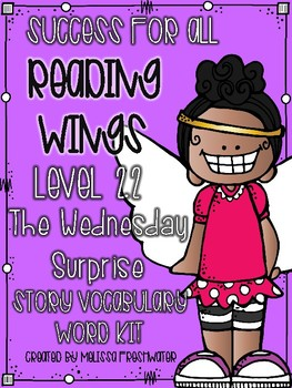 Success for All (SFA) Reading Wings 2.2 The Wednesday Surprise Word Kit