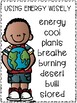 Success for All (SFA) Reading Wings 2.2 Using Energy Wisely Vocabulary Word Kit