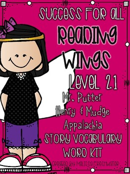 Success for All (SFA) Wings 2.1 Mr. Putter, Henry & Mudge, Appalachia Word Kit