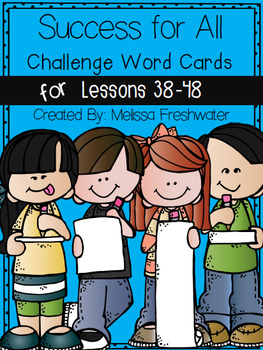 Success for All (SFA) Word Cards (Green, Red & Challenge) Lessons 4-48