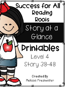 Success for All Story at a Glance Printables Level 4 (38-48) Editable
