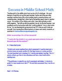 Success in Middle School Math