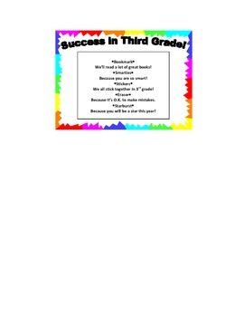 Success in Third Grade