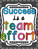 Success is a Team Effort Poster - Bright & Cheery