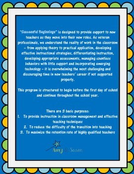 Successful Beginnings - A New Teacher Orientation and Mentoring Program