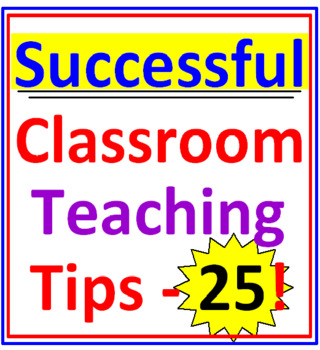 Successful Classroom Teaching Tips (25)