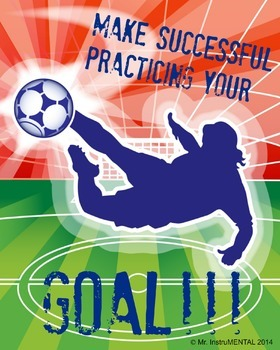 Successful Practicing as a Goal - Soccer Poster