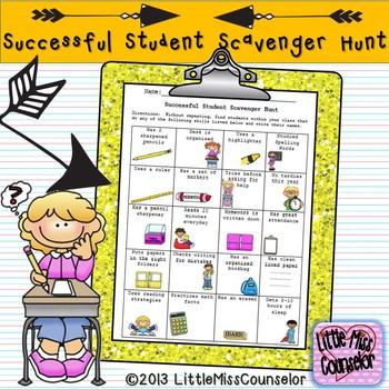 Successful Student Scavanger Hunt Worksheet