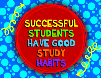 Successful Students Have good Study Habits