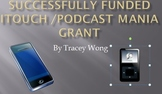 Successfully Funded Podcast Mania Grant
