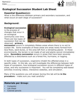 Primary And Secondary Succession Coloring Worksheets & Teaching Resources |  TpT
