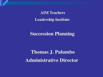 Succession Planning For Teachers