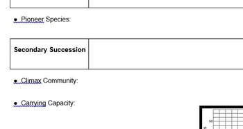 Succession and Limiting Factor NOTES PAGE