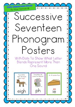 Successive 17 Phonograms Posters (*suitable for use with LEM Phonics Program)