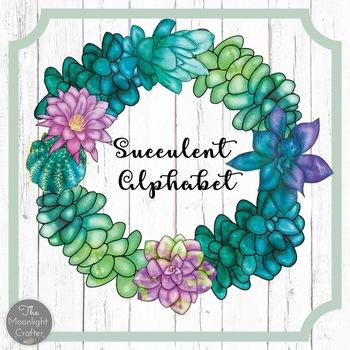 Succulent Alphabet Poster Set