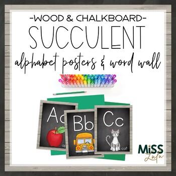 Succulent Alphabet Posters
