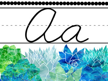 Succulent Alphabets (4 Banner and Word Wall Sets)