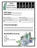 Succulent Back to School Survey