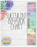 Succulent Behavior Chart