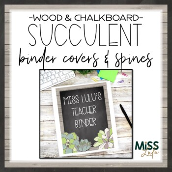 Succulent Binder Covers & Spines {Editable}
