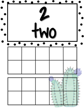 Succulent Blank Tens Frame 1 to 20