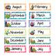 Succulent- Cactus- Calendar (Editable)