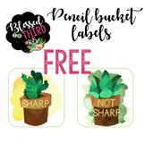Succulent & Cactus Pencil Cup Labels *FREEBIE*