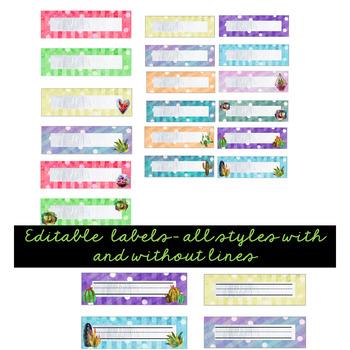 Succulent- Cactus- Tags, Labels, & Signs (Editable)