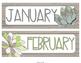 Succulent Classroom Calendar Set