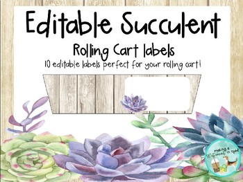 Succulent Cart Labels