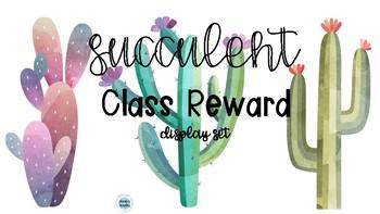 Succulent Class Reward Cards