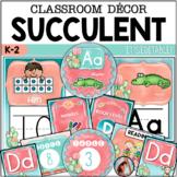 Succulent Classroom Décor