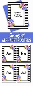 Succulent Classroom Decor - Alphabet Posters