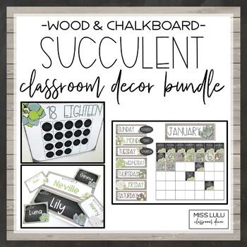 Succulent Classroom Decor Bundle