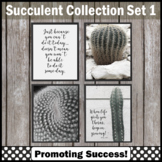 Set 1 Cactus and Succulent Classroom Posters, Modern Farmhouse Classroom Decor