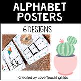 Succulent Classroom Theme- Cactus Alphabet Posters