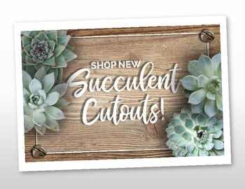 Succulent Classroom Decor Cut-outs