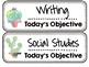 Succulent Classroom Decor | Daily Objectives Headers