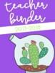 Succulent Classroom Decor Editable GROWING BUNDLE - cactus